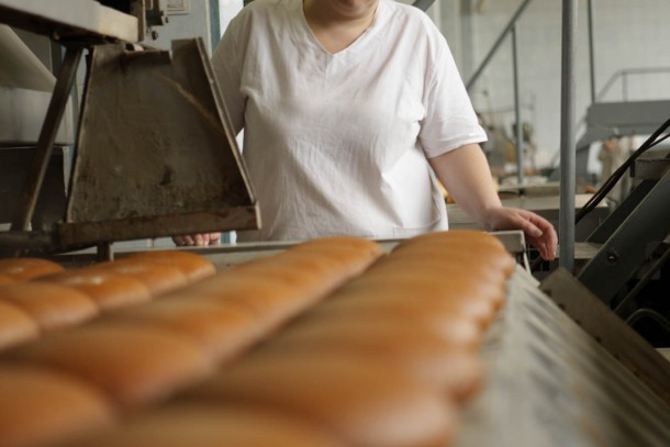 Making bread at Kyivkhlib No. 2 in central Kiev, Ukraine. Photograph: Patrik Rastenberger