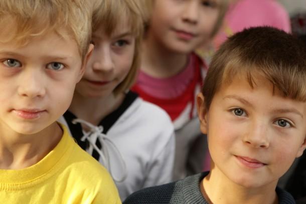 Pupils at school number 4 in Petrozavodsk. Photograph: Patrik Rastenberger