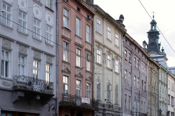 The city centre in Lviv, Ukraine. Photo: Patrik Rastenberger