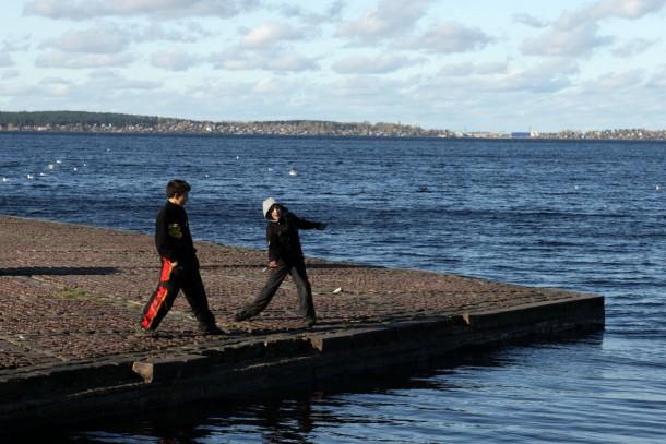 Lake Onega is the second largest lake in Europe. Photo: Patrik Rastenberger.