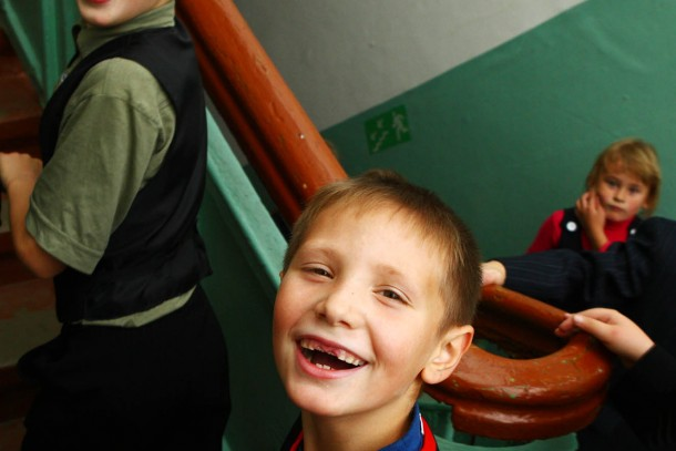 Pupils at school number 1 in Novodvinsk. The school has benefited from an energy saving project funded by NEFCO.