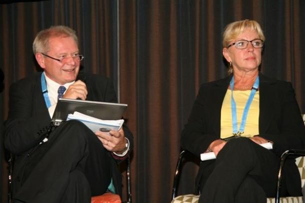 Harro Pitkänen and Gabriella Lindholm at the World Water Week in Stockholm. Photo: Kyra Koponen