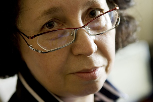 Vodokanal's Site Manager Olga Lominoga in Kronstadt. Photo: Patrik Rastenberger