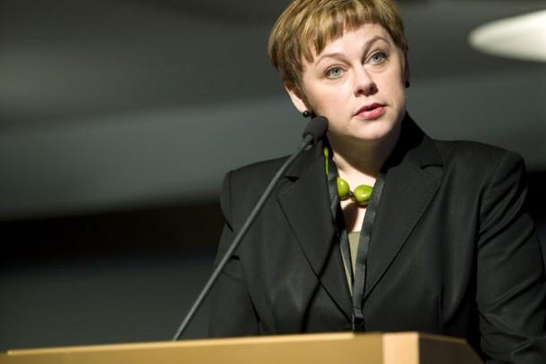 Minister Paula Lehtomäki opened NEFCO's 20th anniversary. Photo: Patrik Rastenberger