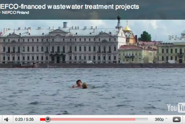 NEFCO's video focuses on wastewater treatment in St. Petersburg