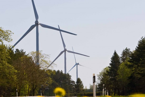 Wind farm in Viru Nigula, Estonia.