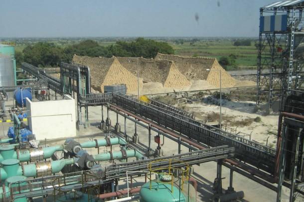 Biomass production at a sugar factory in Maharashtra, India. Photo: Maija Saijonmaa