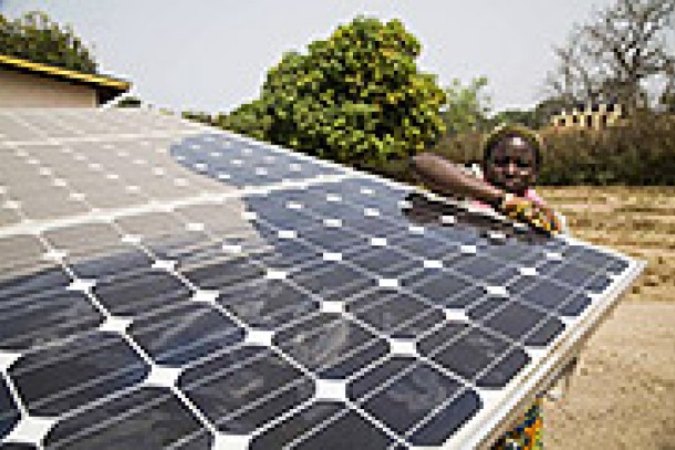 Solar energy. Exploiting the sun to combat climate change. Photo: NDF