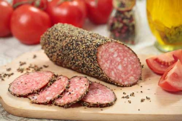 Vitebsk MPP produces smoked salami. Photo: Colourbox