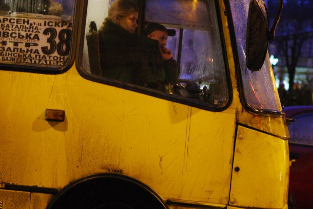 On the road in Lviv, Ukraine. Photo: Patrik Rastenberger