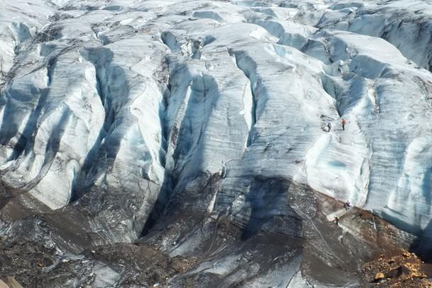 Soot at the glacier Vatnajökull in Iceland. Photo: Svenolof Karlsson