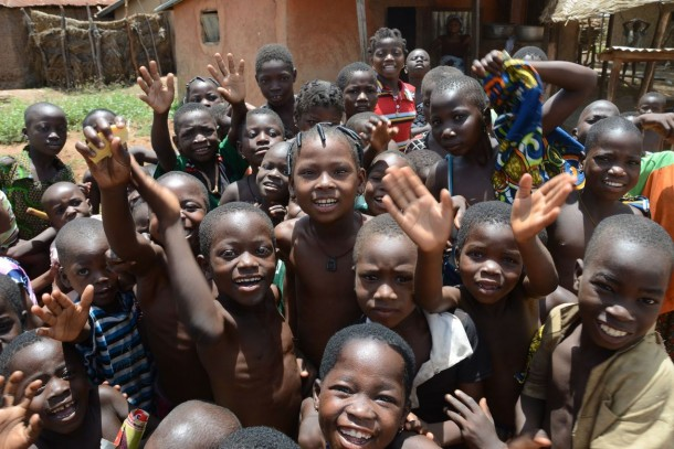 Beneficiaries of a NCF-funded solar project in Kalalé, Benin. Photo: Robert Freling