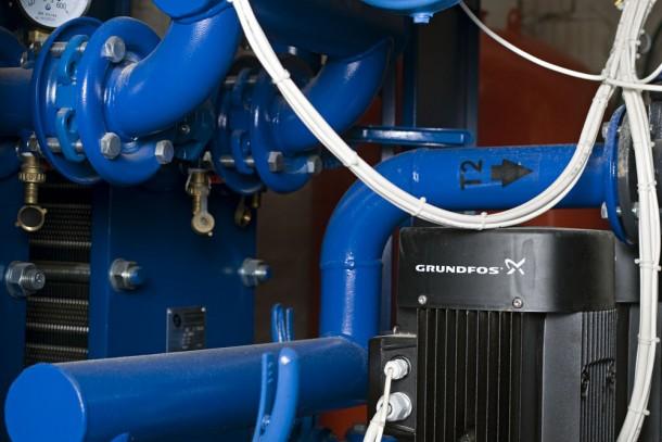 Technical equipment in a modernised boiler house. Photo: Patrik Rastenberger