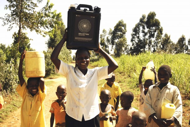 Solvatten is an innovative, NCF-supported technology, which utilises solar radiation to purify water. Photo: Swedish Solvatten Ab