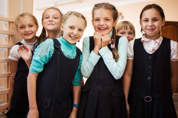 The school children in Kherson, Ukraine will benefit from the investment. Photo: Patrik Rastenberger
