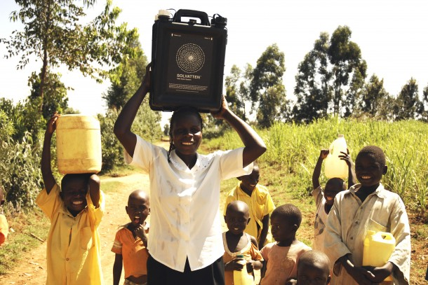 The Swedish company Solvatten uses solar radiation and heat to purify water in Kenya. Photo: Solvatten