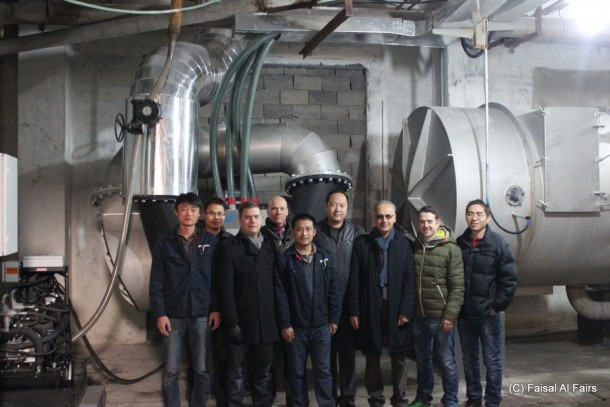 GreenStream's team of experts in front of newly installed cleantech equipment in the Shandong province in China. Photo: Faisal al Fairs