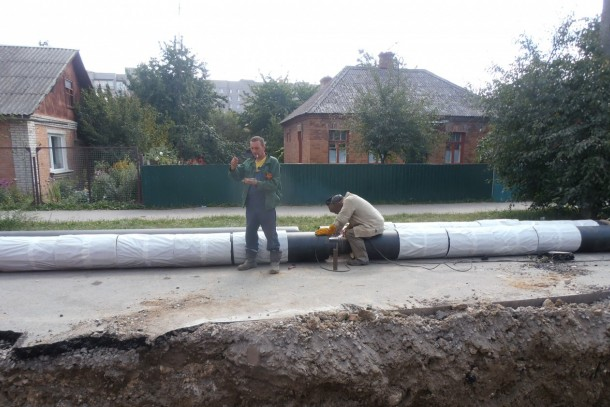 A part of the district heating system in Vinnytsia was upgraded and finalised in 2015 with financial support from the DemoUkrainaDH programme. Photo: Nico van der Woude