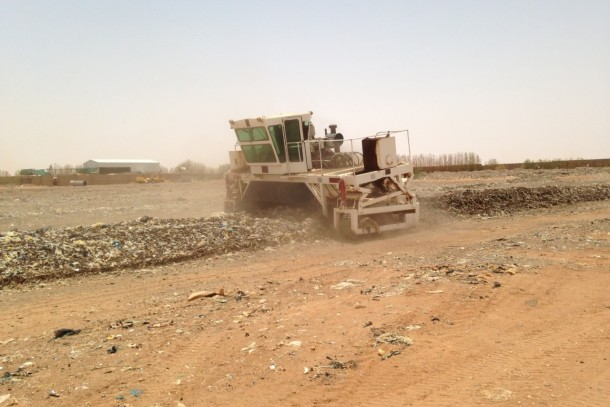 NEFCO Carbon Fund waste composting project at Omdurman, Sudan. Photo: Ash Sharma