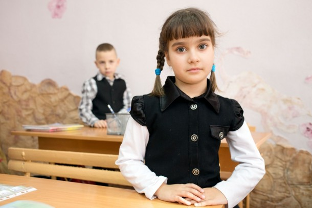 School children in Chuhuiv will benefit from the investment. Photo: Patrik Rastenberger
