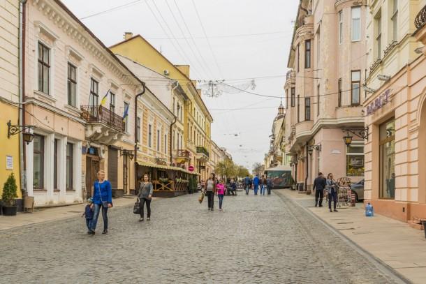 The city center of Chernivtsi. Photo: Brenik/Shutterstock