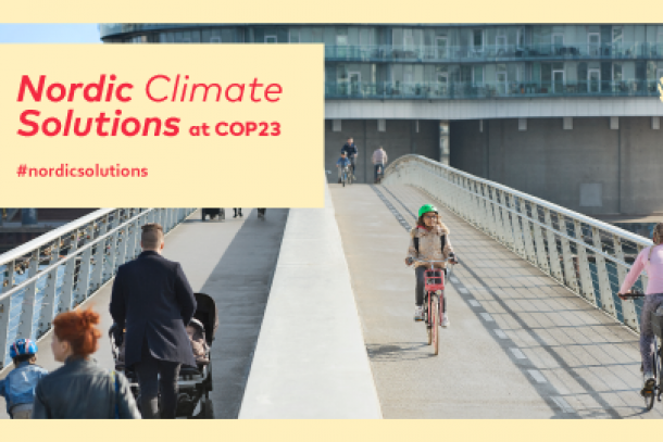 Nordic climate solutions at COP23 in Bonn. Photo: The Nordic Council of Ministers
