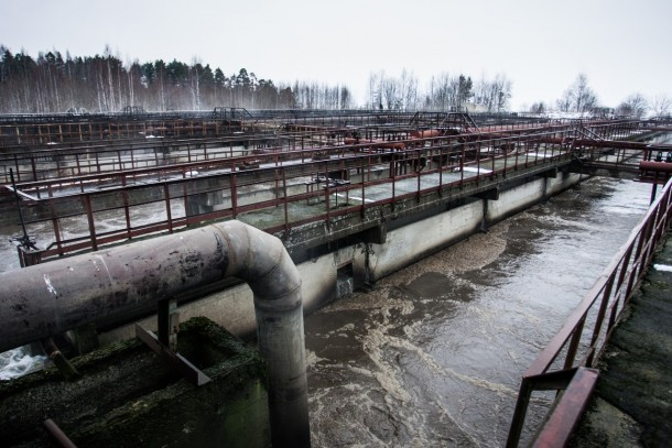The wastewater treatment plant in Petrozavodsk. Photo: Petrozavodsk Utilities Systems (PKS)