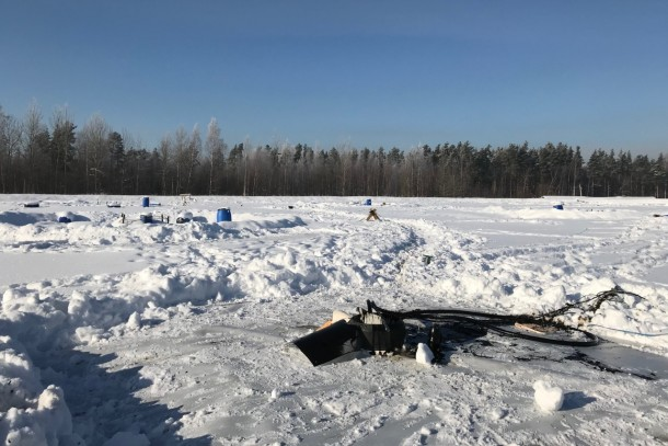 Sample taking at the Krasny Bor landfill. Photo: Vivi Avikainen, NEFCO