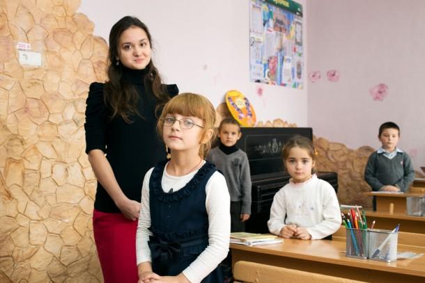 Ukrainian schoolchildren. Photo: Patrik Rastenberger