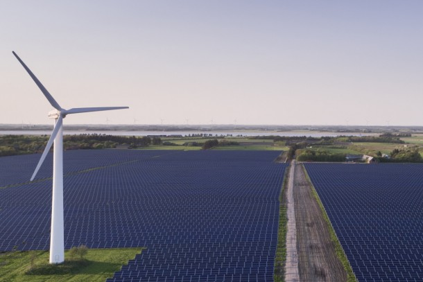 A 50 MW solar park constructed by Better Energy in Nees, Denmark. Photo: Better Energy A/S
