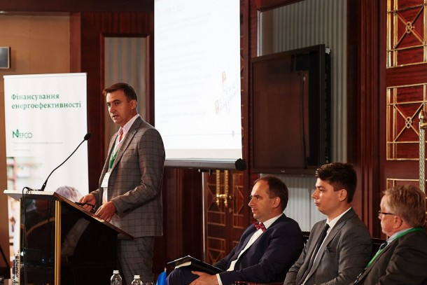 Andriy Levkonyuk, Team Leader (Ukraine), Finnish Consulting Group presenting the Finland Ukraine Trust Fund. Photo: NEFCO
