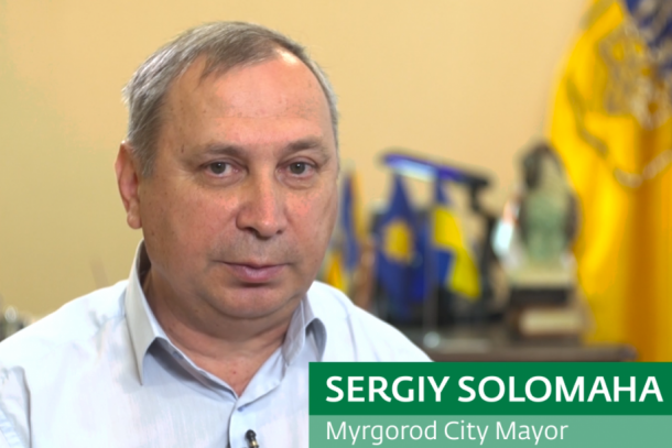 Sergiy Solomaha, Myrgorod City Mayor. Photo: NEFCO