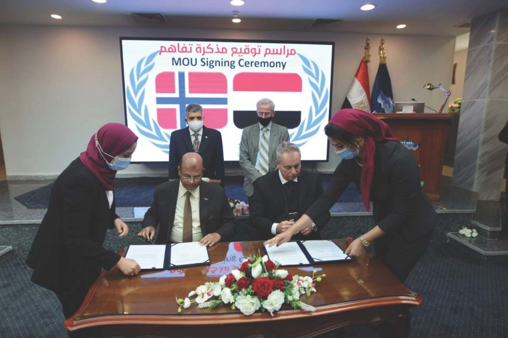 Sterner signing with partner in Egypt